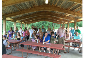 Worship in the Park at Rocky Gap in July 2015
