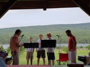 Worship in the Park at Rocky Gap in August 2018